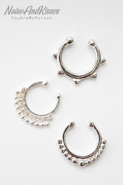 Fake Septum Set (Silver)