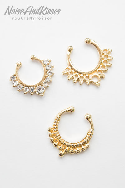Fake Septum Set (Gold)