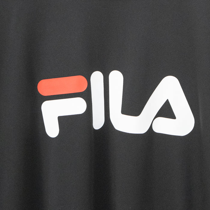 FILA Basketball Crew Neck Logo L/S T-shirt (Black)