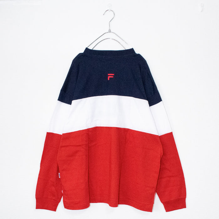 FILA COLOR BLOCK L/S TEE (Navy/Red)