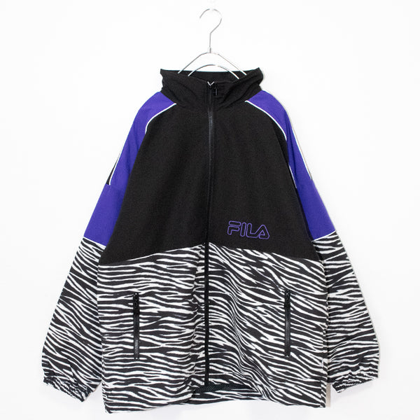 FILA Animal Bi Color Track Jacket (Black/Purple) FM9929