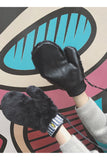 Fur And Synthetic Leather Pop Glove (3 Colors)