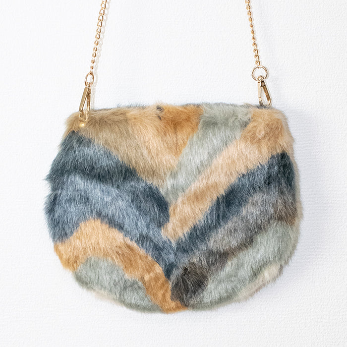 Mix Faux Fur Chain Bag (4 color)