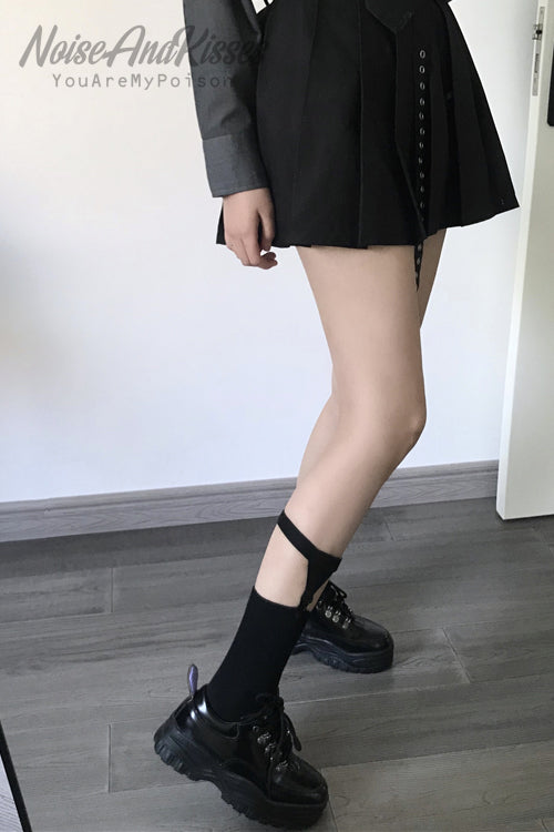 Socks With Garter (Black)