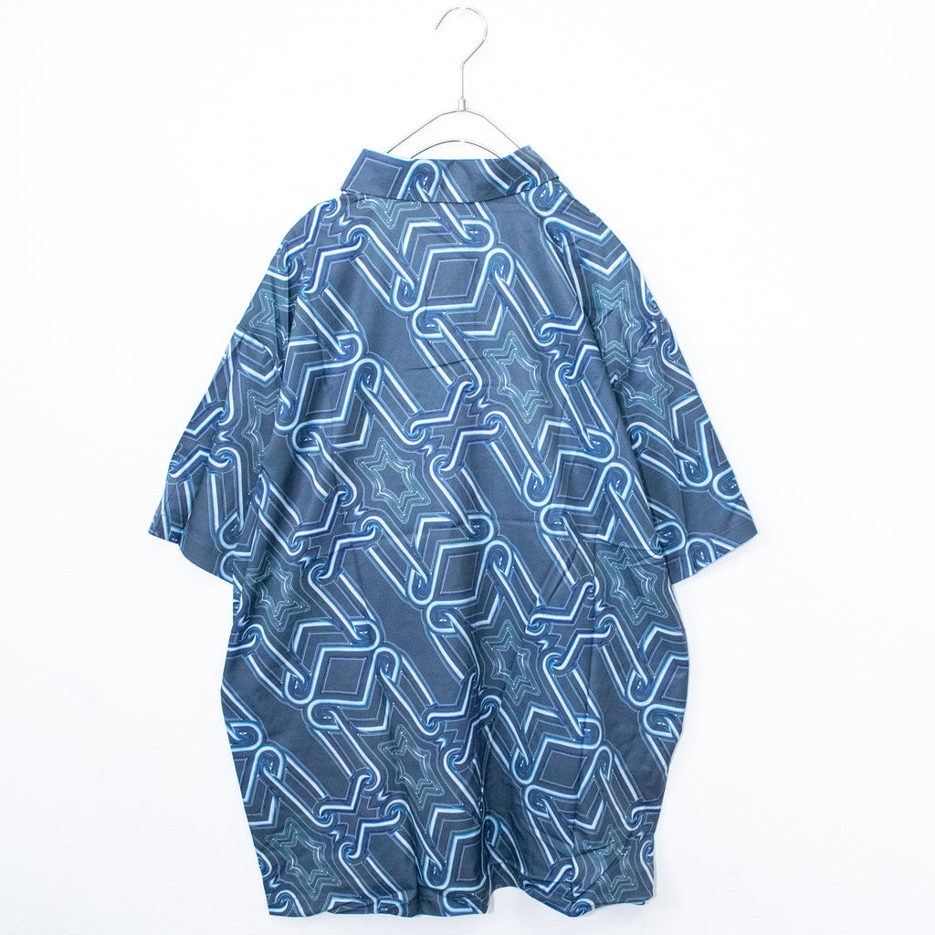 Geometric All-over S/S Shirt (Blue)