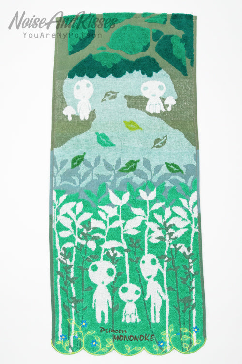 Princess Mononoke Face Towel (Forest of Forest Spirit)