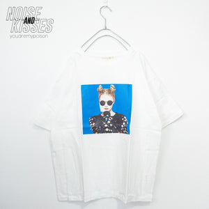 Sunglass Girl Photo T-shirt (White)