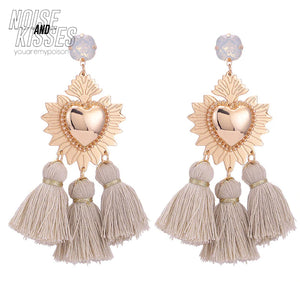 Corazon Heart Tassel Pierce (2 color)