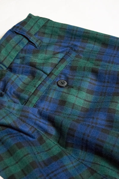 Tartan Check Mens Wide Pants (Green) - YOU ARE MY POISON
