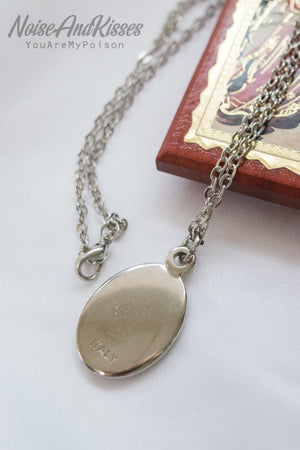 Limited Italy Saint Medal Necklace (Maria)