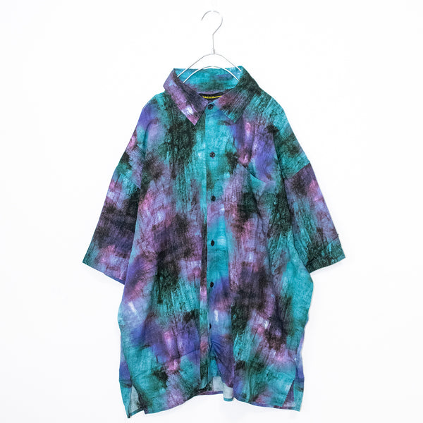 BIG All-over S/S Shirt (Turquoise Blue)