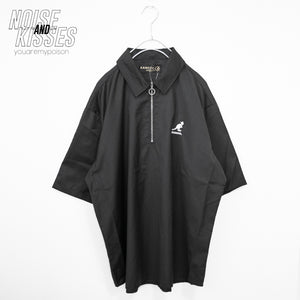 KANGOL Half Zipper Mens S/S Shirt (Black)