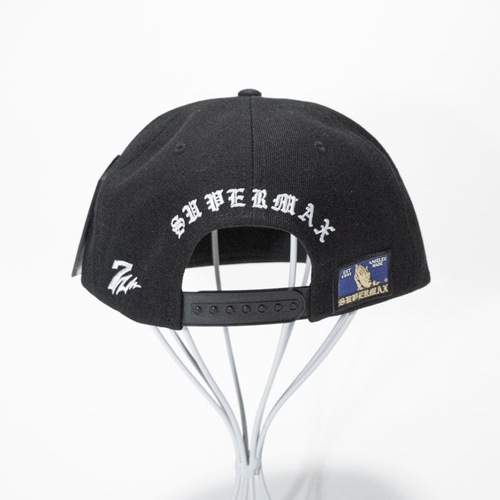 7UNION SUPER MAX SNAP BACK CAP (Black)