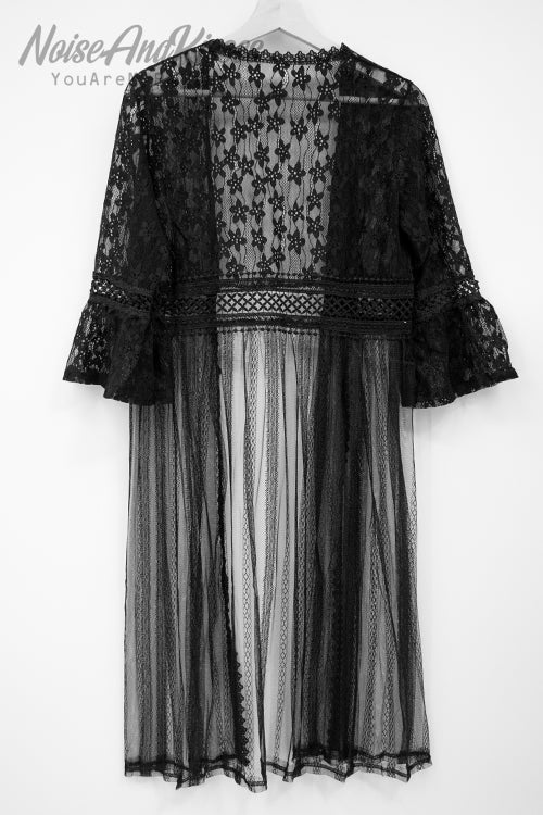 Lace Long Cardigan (2 colors)