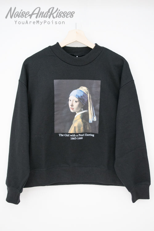 Legend Art Print Sweatshirt -Vermeer- (2 color)