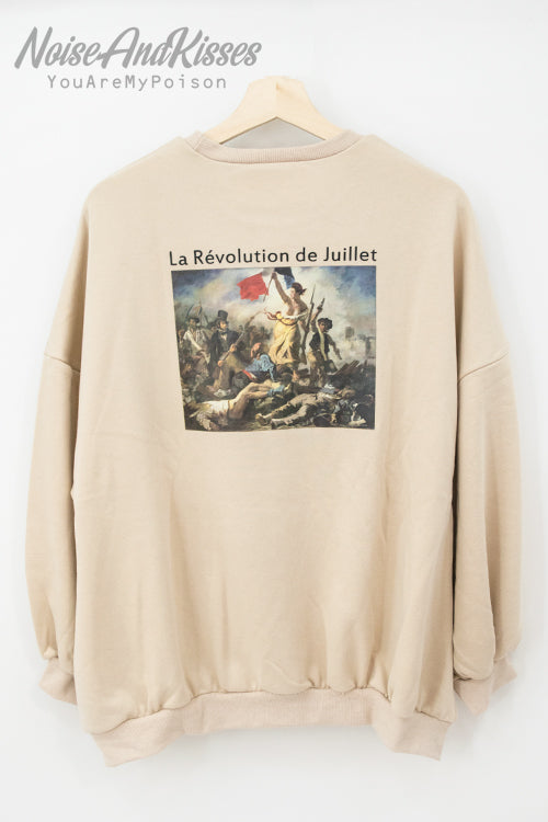 Legend Art Print Sweatshirt -Delacroix- (3 colors)