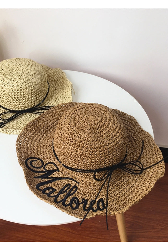 Logo Embroidery Straw Hat