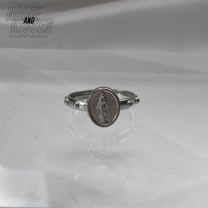 Maria Medal Ring (Silver)