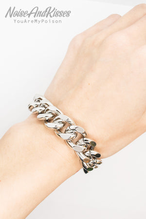 Men Big Chain Bracelet (Silver)