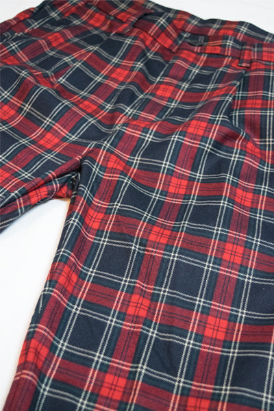 Tartan Check Mens Pants (Red) - YOU ARE MY POISON