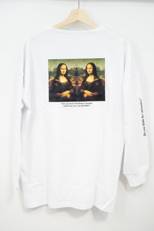Legend Art Print L/S Top -Mona Lisa- (4 colors)
