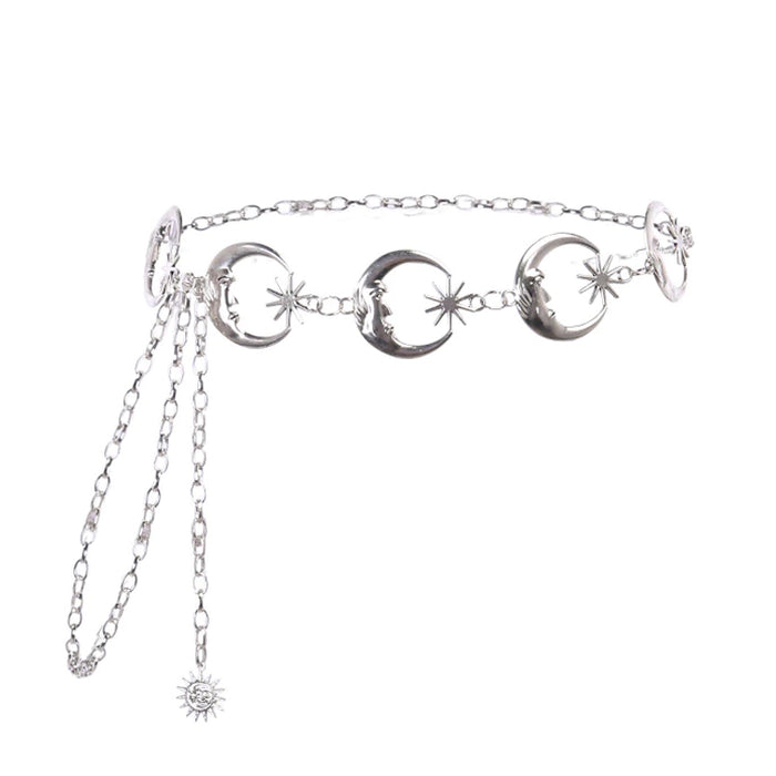 Moon Chain Belt (Silver)