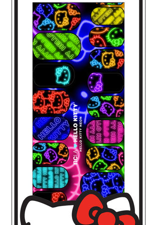 ncLA NAIL WRAPS HELLO KITTY Neon - YOU ARE MY POISON
