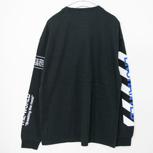 Mens Logo Decoration L/S Top (Black)