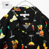 Open Collar Mens Aloha S/S Shirt (Cocktail)