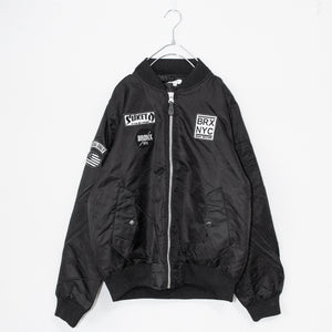 Patch Mens MA-1 Jacket (Black)