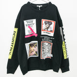 Photo Logo Decoration Sweatshirt (3 color)