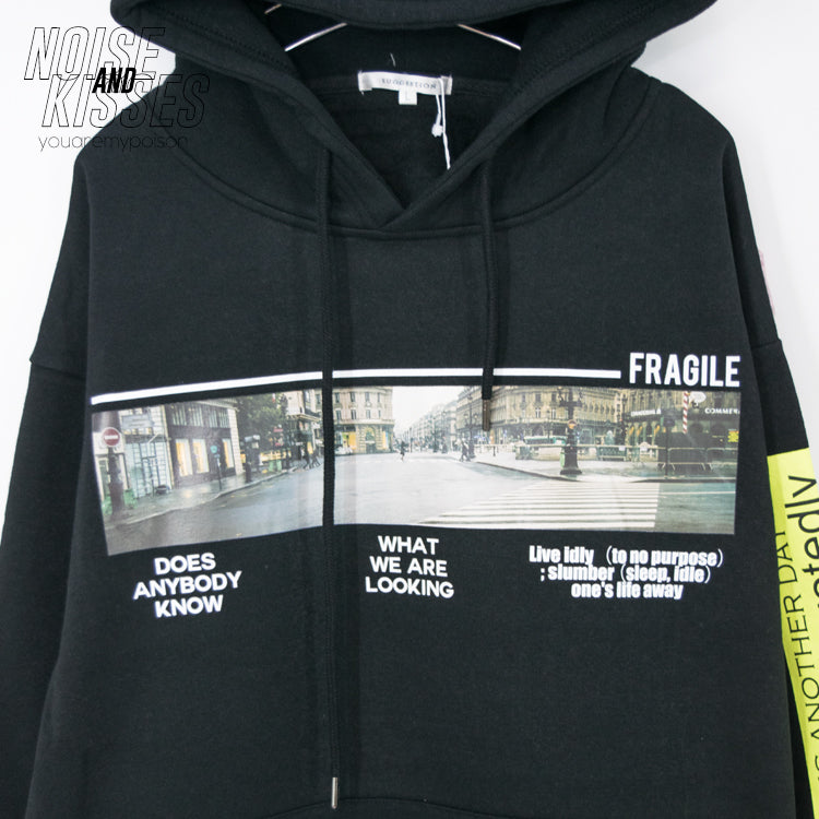 Photo Decoration Men Pullover Hoodie (Black)