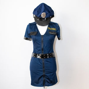 Mini Skirt Police Cosplay Set (Blue)