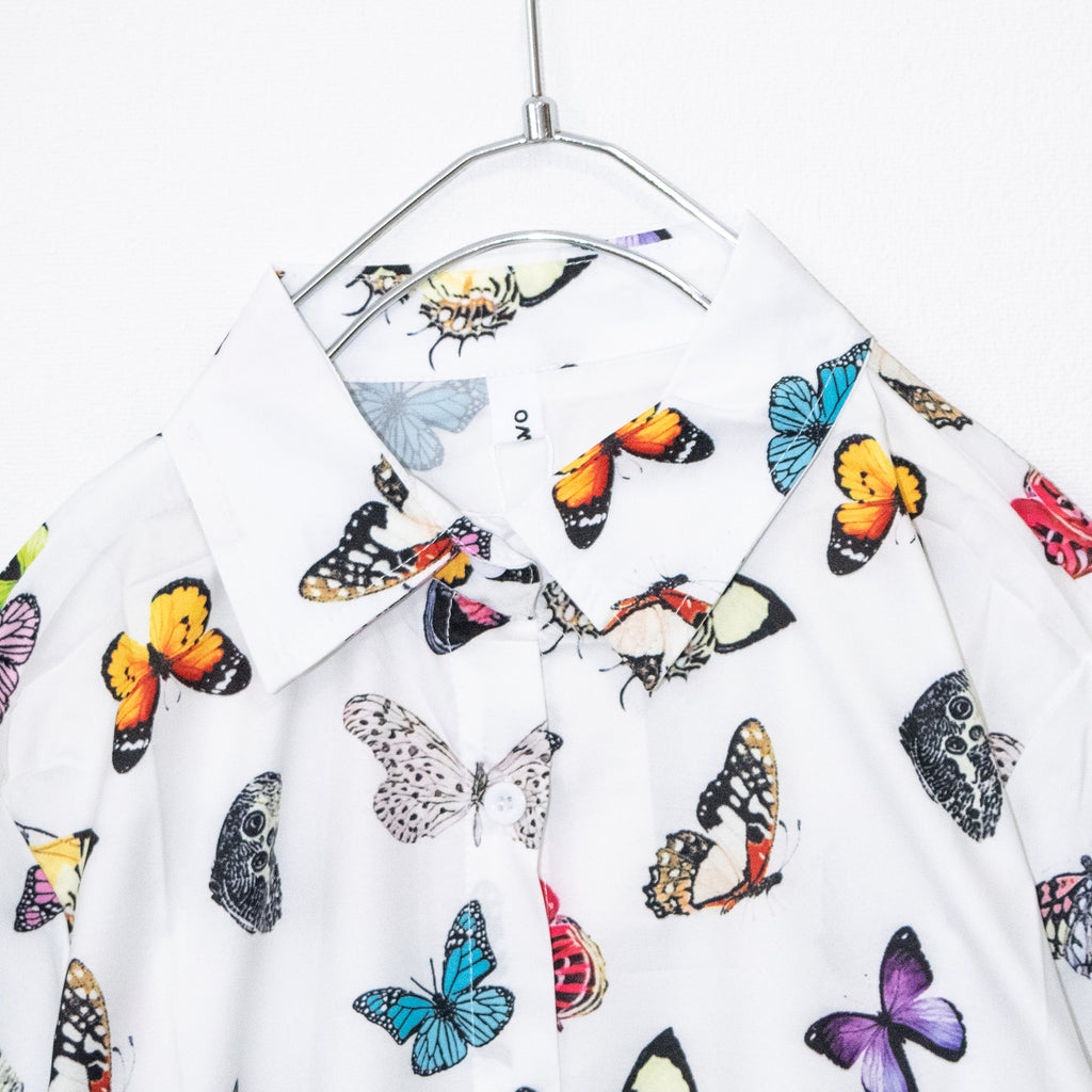 Colorful Butterfly S/S Shirt (White)