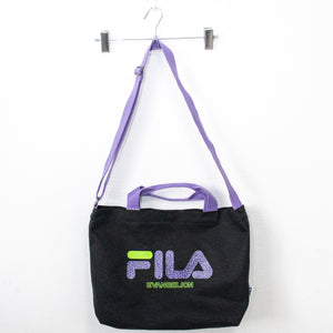 FILA x RADIO EVA Monogram Logo Tote Bag EVANGELION LIMITED (BLACK)