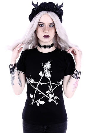 Restyle Classic T-shirt (ROSE PENTAGRAM) - YOU ARE MY POISON