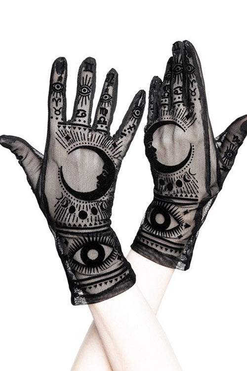 Restyle FORTUNE TELLER GLOVES (Black)