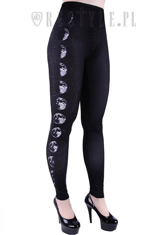 Restyle MOON PHASES Leggings (Black)