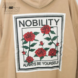 Rose Back Patch Mens Hoodie (3 color)