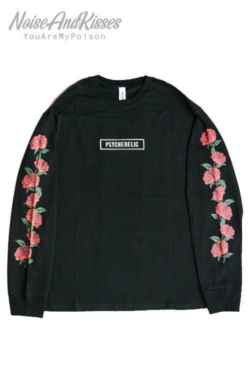 Rose Sleeve Printed Mens L/S Top (2 Colors)