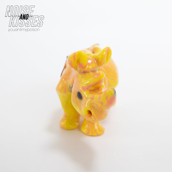 Swaziland Handmade Candle Mini Rhino (Yellow)