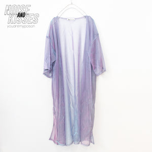 Sheer Long Cardigan (Purple)
