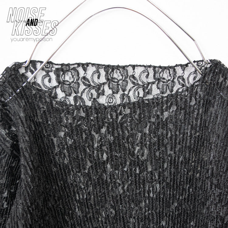 Sheer Lace Top (Black)