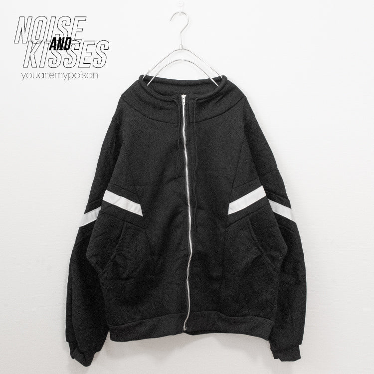 Light Line Zipper Parka (Black)