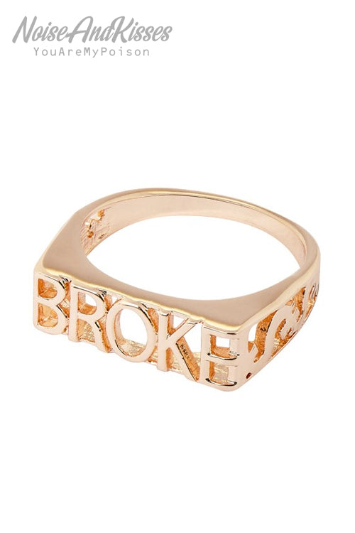 Skinnydip Broke Ring (Gold)