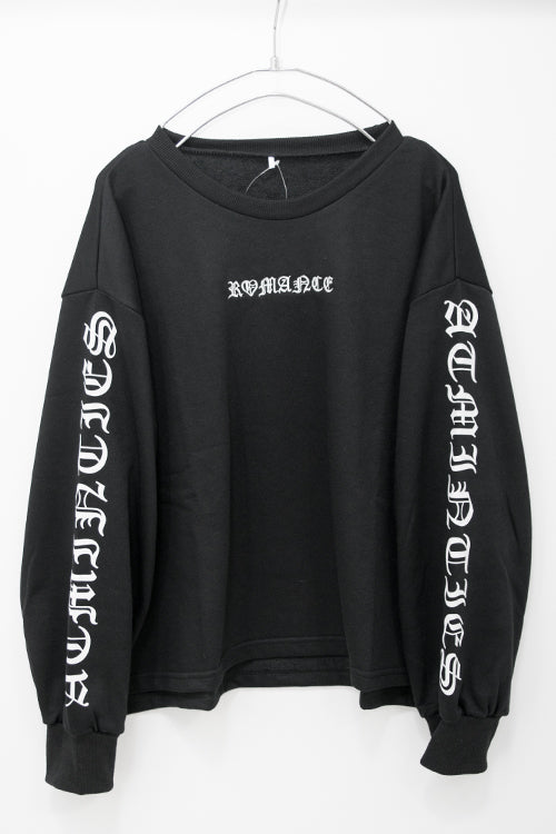 Sleeve Logo Pullover Top (3 color)
