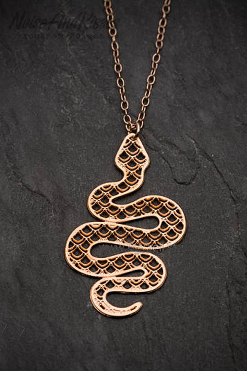 Snake Flat Necklace (3 Colors)