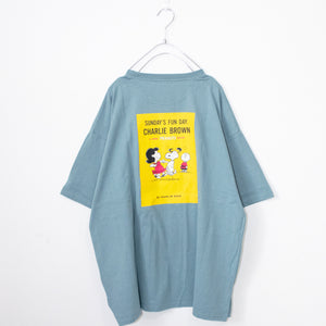 Snoopy Back BoxPrinted S/S T-shirt (2 color)