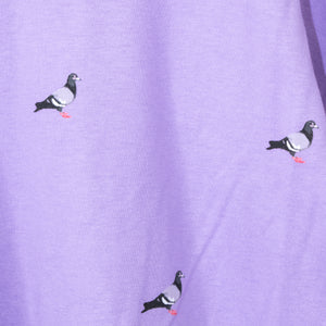 STAPLE BIG Silhouette Pigeon All-over S/S T-shirt (Purple)