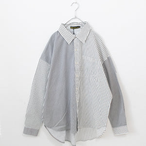 Stripe BIG L/S Shirt (2 color)